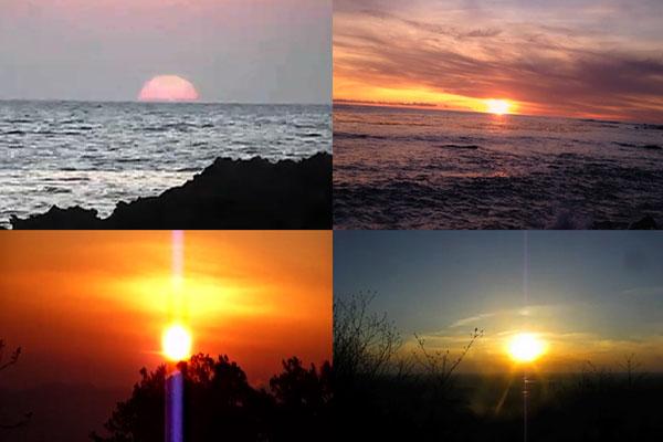 Les soleils se couchent à l'ouest